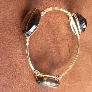 Bourbon and Bowties Brown Crystal Bracelet